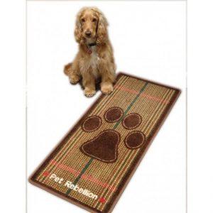 Tweed dog runner mat