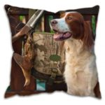 Gun Dog with Pheasant Cushion