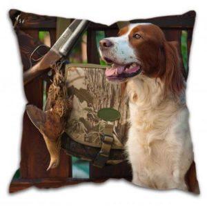Gun Dog with Pheasant Cushion