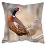 country cushion with pheasants
