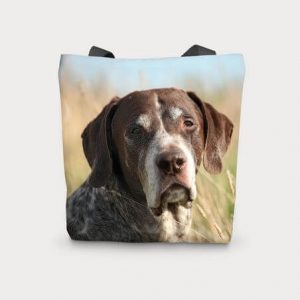 Canvas Cotton Printed Totes Pointer Dog Bag