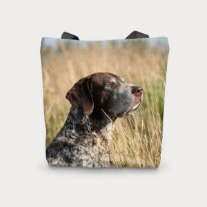 Canvas Cotton Printed Totes Pointer Gun Dog Bag