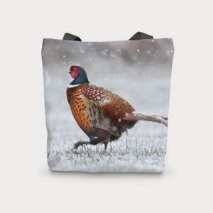 Country Pheasant Foldaway Tote Bag