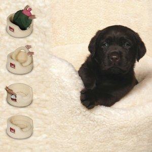 Soft round puppy bed