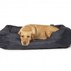Quilted Navy Dog Bed